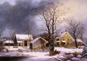 Winter in the Country, 1862 by George Henry Durrie