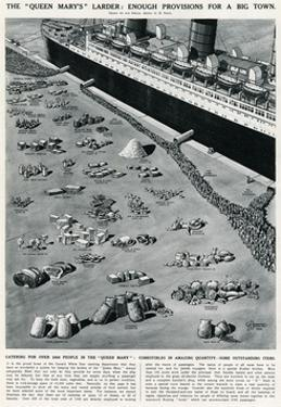 Catering for 3000 People on the Queen Mary Ocean Liner by George Horace Davis