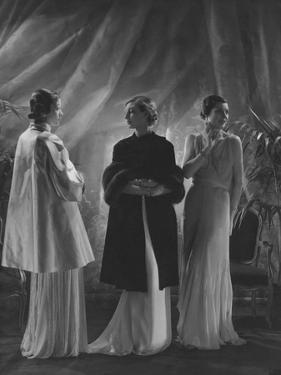 Vogue - April 1933 - Three Women in Augustabernard Gowns by George Hoyningen-Huené