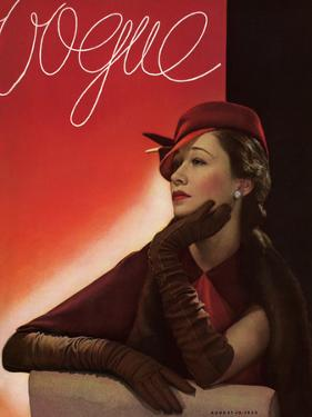 Vogue Cover - August 1933 by George Hoyningen-Huené