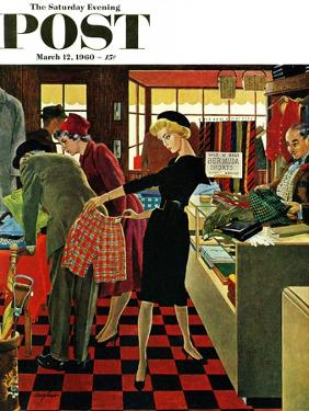 """""""Bermuda Shorts,"""" Saturday Evening Post Cover, March 12, 1960 by George Hughes"""