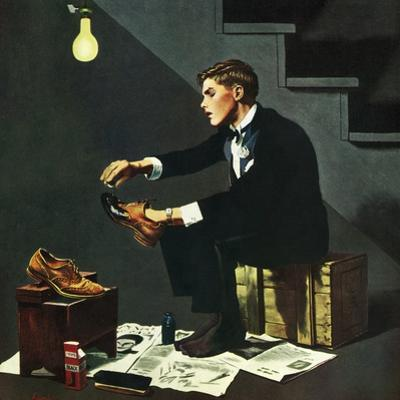 """""""Brown Shoes to Black"""", November 4, 1950 by George Hughes"""