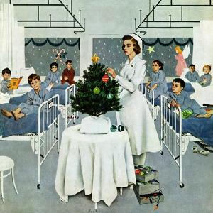 """""""Children's Ward at Christmas"""", December 25, 1954 by George Hughes"""