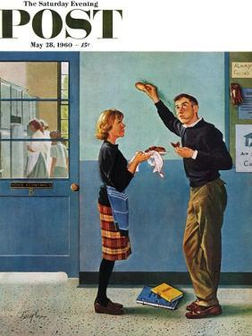 """""""Cookie Tester,"""" Saturday Evening Post Cover, May 28, 1960 by George Hughes"""