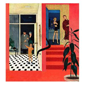 """Early Guests"", November 23, 1957 by George Hughes"