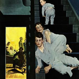 """Eavesdroppin on Grownups"", December 2, 1950 by George Hughes"