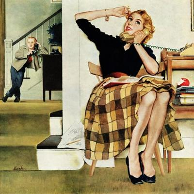 """""""Eavesdropping on Sister"""", February 9, 1957 by George Hughes"""