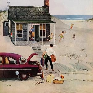 """First Day at the Beach"", August 11, 1956 by George Hughes"