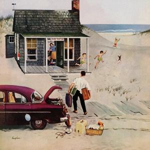 """""""First Day at the Beach"""", August 11, 1956 by George Hughes"""