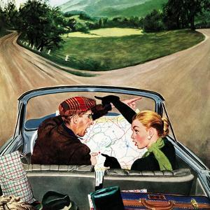 """""""Fork in the Road"""", July 7, 1956 by George Hughes"""