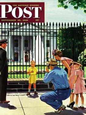"""""""Future President,"""" Saturday Evening Post Cover, September 25, 1948 by George Hughes"""