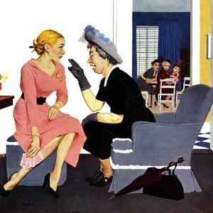 """""""Gossiping Neighbor"""", May 12, 1951 by George Hughes"""