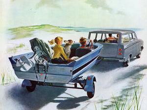 """Highway Boatride,"" July 14, 1962 by George Hughes"
