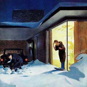 """""""Late for Party Due to Snow,"""" January 27, 1962 by George Hughes"""