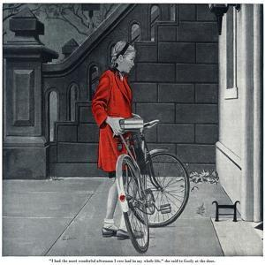 """Lonely Girl - Saturday Evening Post """"Leading Ladies"""", August 11, 1945 pg.16 by George Hughes"""