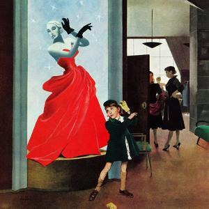 """Mannequin"", March 1, 1952 by George Hughes"