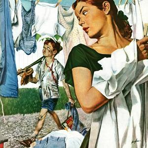 """""""More Clothes to Clean,"""" April 17, 1948 by George Hughes"""