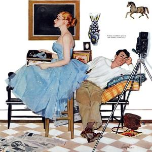 "One Way Affair  - Saturday Evening Post ""Leading Ladies"", September 10, 1955 pg.23 by George Hughes"