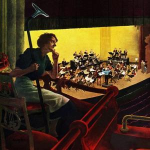 """""""Orchestra Rehearsal"""", January 13, 1951 by George Hughes"""