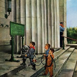 """Public Aquarium"", May 15, 1954 by George Hughes"