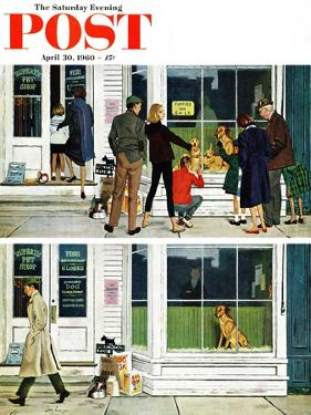 """Puppy Sellout,"" Saturday Evening Post Cover, April 30, 1960 by George Hughes"