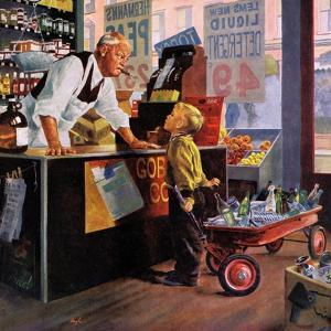"""""""Returning Bottles for Refund"""", March 28, 1959 by George Hughes"""