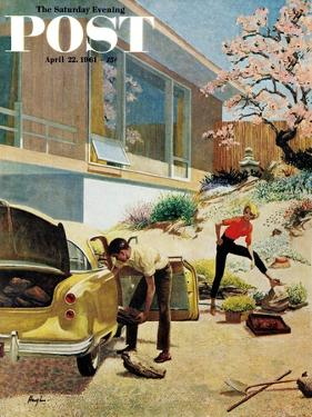 """Rock Garden,"" Saturday Evening Post Cover, April 22, 1961 by George Hughes"
