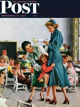 """""""Separation Anxiety,"""" Saturday Evening Post Cover, September 11, 1948 by George Hughes"""