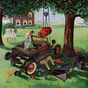 """Working on the Jalopy,"" July 15, 1961 by George Hughes"