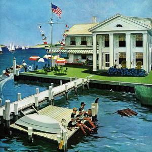 """Yacht Club,"" June 23, 1962 by George Hughes"