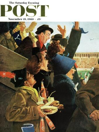 """Yale vs. Harvard,"" Saturday Evening Post Cover, November 19, 1960 by George Hughes"