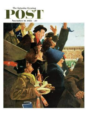 """""""Yale vs. Harvard,"""" Saturday Evening Post Cover, November 19, 1960 by George Hughes"""