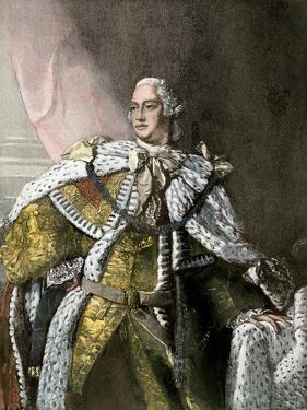 George Iii, King of England, in Gold Brocade Trimmed with Ermine, 1767