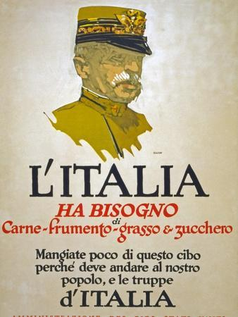Italy Has Need of Meat, Wheat, Fat, and Sugar, 1917