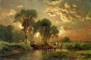 Medfield, Massachusetts by George Inness