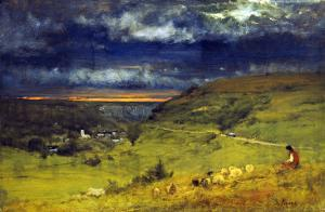 Sunset at et retat by George Inness