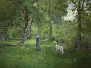Taking a Walk by George Inness