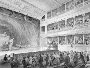 Interior of the Little Theatre, Haymarket in London, 1815 by George Jones