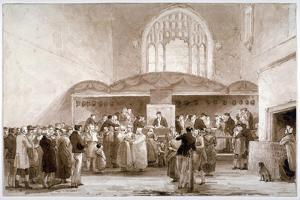 Interior View of Guildhall Chapel, City of London, 1817 by George Jones