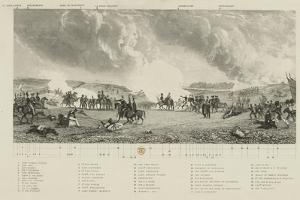 Key to 'The Battle of Waterloo, 1815', by J. T. Willmore, Published by J. Hogarth, 21 Mar 1849 by George Jones