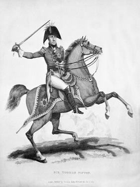 Sir Thomas Picton, Engraved by Samuel Mitan, 1815 by George Jones
