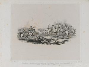 The Memorable Battle of Waterloo - the Duke of Wellington Ordering the Last Grand Charge Which Comp by George Jones