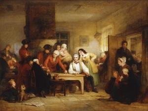 The Smoking House at Chelsea Hospital: Pensioners Describing the Battle of Corunna, 1834 by George Jones