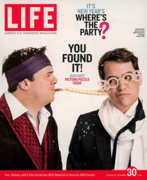 Actors Nathan Lane and Matthew Broderick Getting the Last Laugh of 2005, December 30, 2005 by George Lange