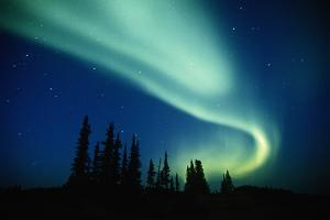 Aurora Borealis (Northern Lights), Northwest Territories, Canada by George Lepp