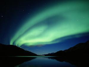 NORTHERN Lights, DENALI NATIONAL Park, ALASKA by George Lepp