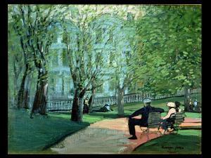 Summer Day, Boston Public Garden, c.1923 by George Luks
