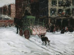 The Butcher Cart, 1901 by George Luks