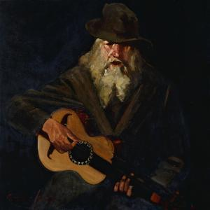 The Hobo Musician by George Luks