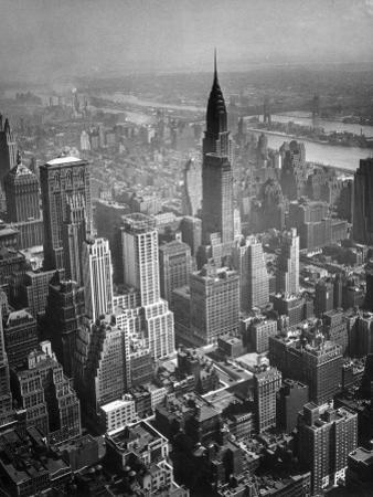 Aerial View of New York City by George Marks